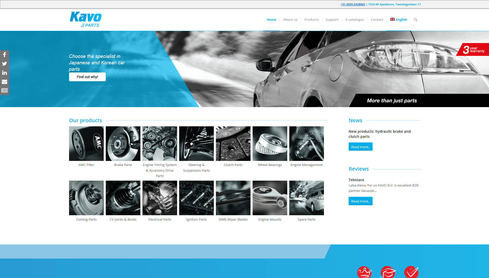 Your specialist in Asian car parts - Kavo Parts
